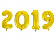 2019 made form flying ballons - Happy New Year