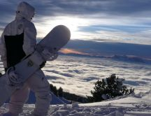 Wonderful view from the top of the mountain - Winter sport