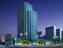Big residential commercial buildings - The future style type