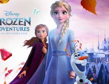 Frozen Adventures - Wonderful poster for the walls Ana Elsa