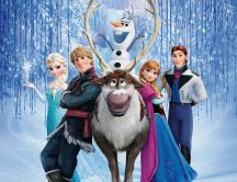 Wonderful Disney animation movie - Frozen Ana Elsa and Olaf