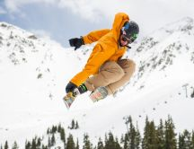 Winter sports - Wonderful jump skiing time - White mountains