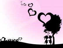 Kids love shadows under the tree - HD wallpaper