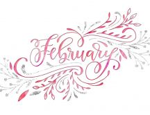 February love month - Digital art design on background