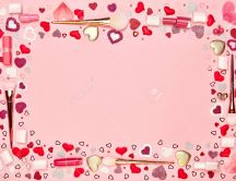 Be beautiful on February 14th - Love makeup Valentines Day