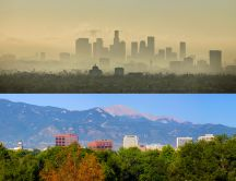 Pure and fresh air versus worst air quality - HD wallpaper