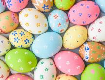 Painted eggs - Happy Easter Holiday spring season 2020