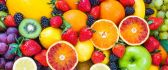 Delicious fruits on background - Vitamin part of life