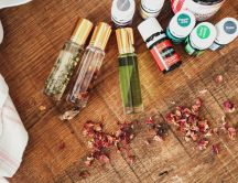 Different recipes from essential oils from Young Living