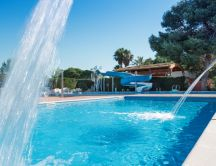 Camping La Pineda de Salou - Swimming pool summer day