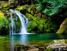 Magic waterfall and wonderful nature wallpaper