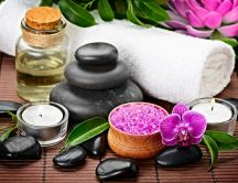 Aromatherapy with hot rocks and essential oils - Relax time